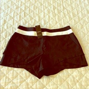 Bebe  black & white stripe shorts